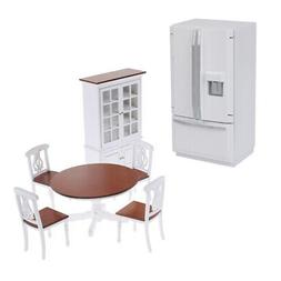 1/12 Dollhouse Furniture Set | Wooden Kitchen Cabinets and F