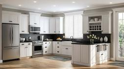10'x10' White Shaker Solid Maple Wood Kitchen Cabinets - 5/8
