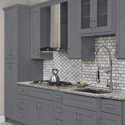 10x10 ALL WOOD Kitchen Cabinets Colonial Gray Fully Upgraded