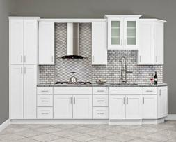 10x10 All Solid Wood KITCHEN CABINETS ALPINA WHITE RTA NEW