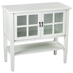 Heather Ann Creations Modern 2 Door Accent Console Cabinet w