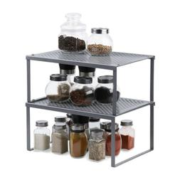 NEX 2-Pack Kitchen Cabinet And Counter Shelf Organizer, Expa