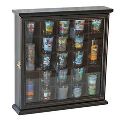 21 Shot Glass Shooter Display Case Holder Rack Wall Cabinet,