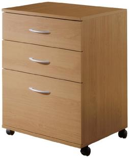 3-Drawer Mobile Filing Cabinet 5092 from Nexera, Natural Map