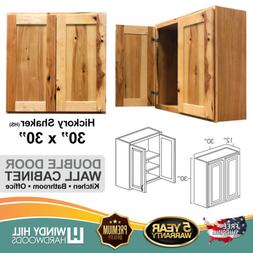 30 inch Rustic Kitchen Cabinets Double Door Wall Cabinet Bat