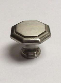 35 Pack Brushed Nickel Octagon Knob Kitchen Cabinet Handle D