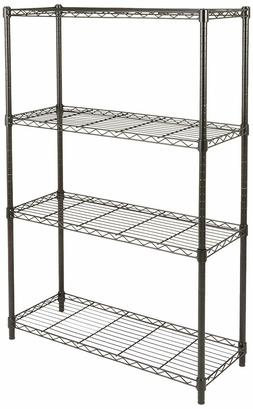 4-Shelf Shelving Storage Unit on Without Casters or 3'' Whee