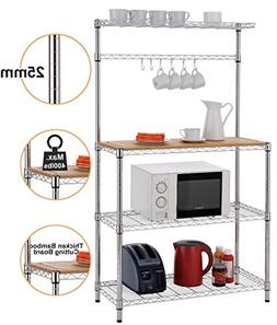 Finnhomy 16x36x61'' 4-Tiers Adjustable Kitchen Bakers Rack K