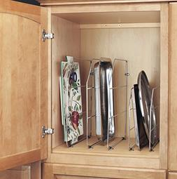 "Rev-A-Shelf 597-12CR-10 12"" Tray Divider with Clip, Chrome"