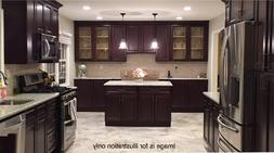 "90"" Kitchen Cabinets Wall and Base - Maple wood  Aberdeen De"