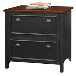 Bush Furniture Stanford 2 Drawer Lateral File Cabinet in Ant