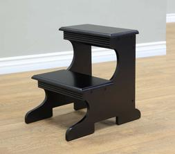 Frenchi Home Furnishing Step Stool, Black Finish