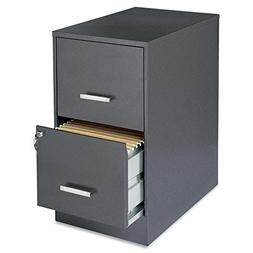 "Lorell Office Dimensions 22"" Deep 2 Drawer Letter-Sized Meta"