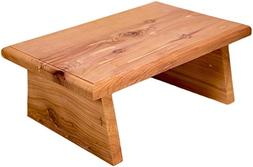 New Strong Wooden Small Wood Step Stool Made in USA! Made in