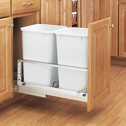 Rev-A-Shelf - 5349-1527DM-2 - Double 27 Qt. Pull-Out Brushed