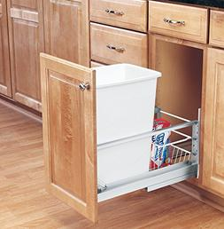 Rev-A-Shelf - 5349-15DM-1 - Single 35 Qt. Pull-Out Brushed A