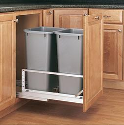 Rev-A-Shelf - 5349-2150DM-217 - Double 50 Qt. Pull-Out Brush