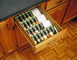 Rev-A-Shelf Cut-To-Size Insert Spice Organizer -  Almond
