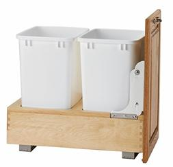 Rev-A-Shelf Double 35 Quart Pullout Waste Container, Natural