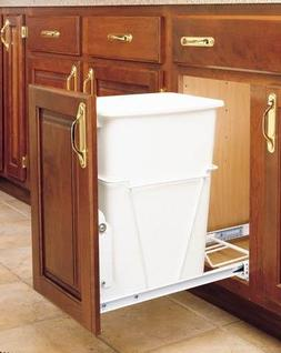 Rev-A-Shelf RV-12PB S 35 Qt Pull-Out Waste Container with Fu