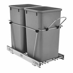 Rev-A-Shelf - RV-15KD-17C S - Double 27 Qt. Pull-Out Silver