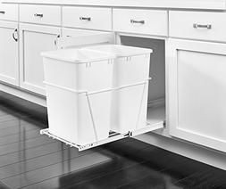 Rev-A-Shelf - RV-18PB-2 S - Double 35 Qt. Pull-Out White Was