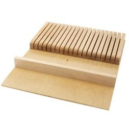 Rev-A-Shelf Wood Knife Organizer for Drawers - Cut-To-Size I