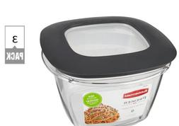 Rubbermaid Premier Easy Find Lids Food Storage Containers, 7