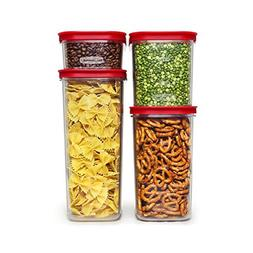 Rubbermaid Premium Modular Food Storage Canisters, Racer Red