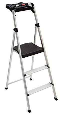 Rubbermaid RM-SLA3-T 3-Step Ultra Light Aluminum Step Stool