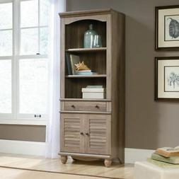 """Sauder 419911 Harbor View Library with Doors L: 27.21"""" x W:"""