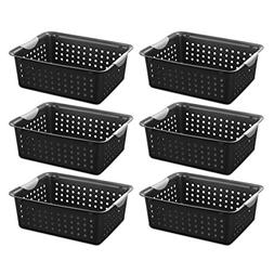 Sterilite 16249006 Medium Ultra Basket, Black Basket w/ Tita