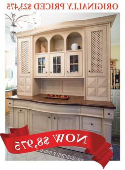 Absolutely Stunning Custom Wood Hutch - Kitchen Cabinets, Ca