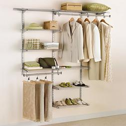 Rubbermaid Adjustable Deluxe Closet Organizer Kit in Titaniu