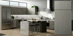 Fully Assembled 10X10 Contemporary Matrix Silver Kitchen Cab