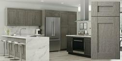 Fully Assembled - 10X10 Contemporary Oxford Silver Kitchen C