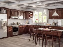 All Wood RTA 10X10 Traditional Sierra Espresso Brown Kitchen