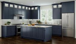 All Wood RTA 10X10 Transitional Shaker Kitchen Cabinets in E