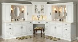 Antique White Kitchen Cabinets-Sample-RTA-All wood, in stock