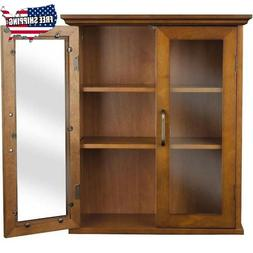 Elegant Home Fashions Avery Wall Cabinet with 2 Doors