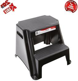 Best 2-Step Molded Plastic Stool with Non-Slip Step Treads 3