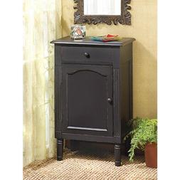 Black Kitchen Cabinets, Display Small Paint Wood Storage For