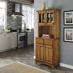 Home Styles Small Buffet With Two-Door Hutch, Cottage Oak Fi
