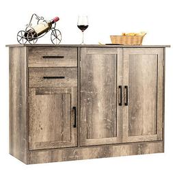 Giantex Buffet Storage Cabinet Console Table Kitchen Sideboa