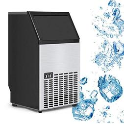 Costzon Built-In Stainless Steel Commercial Ice Maker Portab