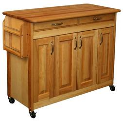 Catskill Craftsmen Butcher Block Island with Raised Panel Do