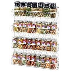 4 Tier Country Metal Chicken Wire Spice Rack from 1790, Cabi