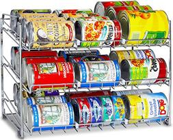 Can Rack Organizer Kitchen Cabinet Storage Food Holder Shelf