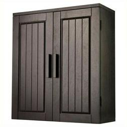 Catalina Wall Cabinet in Dark Espresso Finish