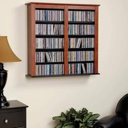 Prepac Double Wall Mounted  Storage Cabinet, Cherry and Blac